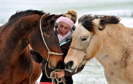 notizie animali, notizie divertenti, notizie strane, notizie commoventi, cavalli, giumente, cavalli ciechi, maltrattamenti animali, abusi animali, cavalli salvat