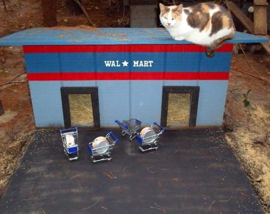 Un americano ha costruito un villaggio per gatti for Ranch a forma di l